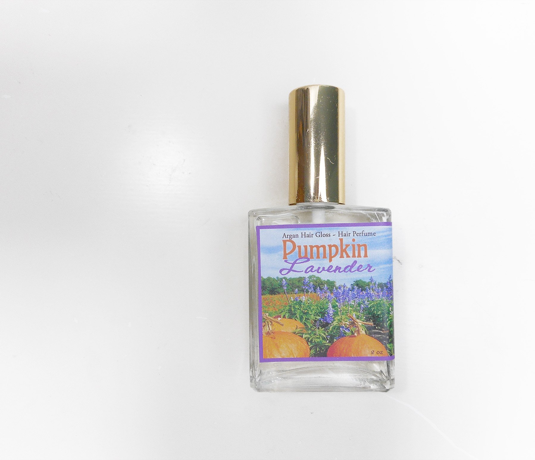 Pumpkin Lavender Hair Perfume - Hair Mist, Argan Hair Milk or Argan Hair Gloss Spray - with Silk Protein and Vitamin B - 2 oz Spray