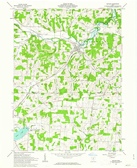 Amazon Com Yellowmaps Butler Oh Topo Map 1 24000 Scale 7 5 X 7 5