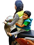 SI Kids Safety Belt for Two Wheeler Front and Back Sitting Puppy Design (Cyan)