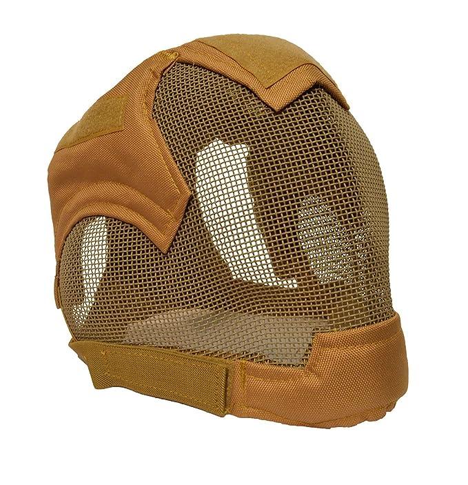Almohadillas de calidad Full Face máscara de esgrima BB Airsoft malla máscara MA19, canela: Amazon.es: Deportes y aire libre