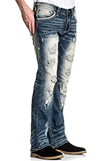 Amazon.com: Affliction Gage Relent Major Skinny - Pantalones ...