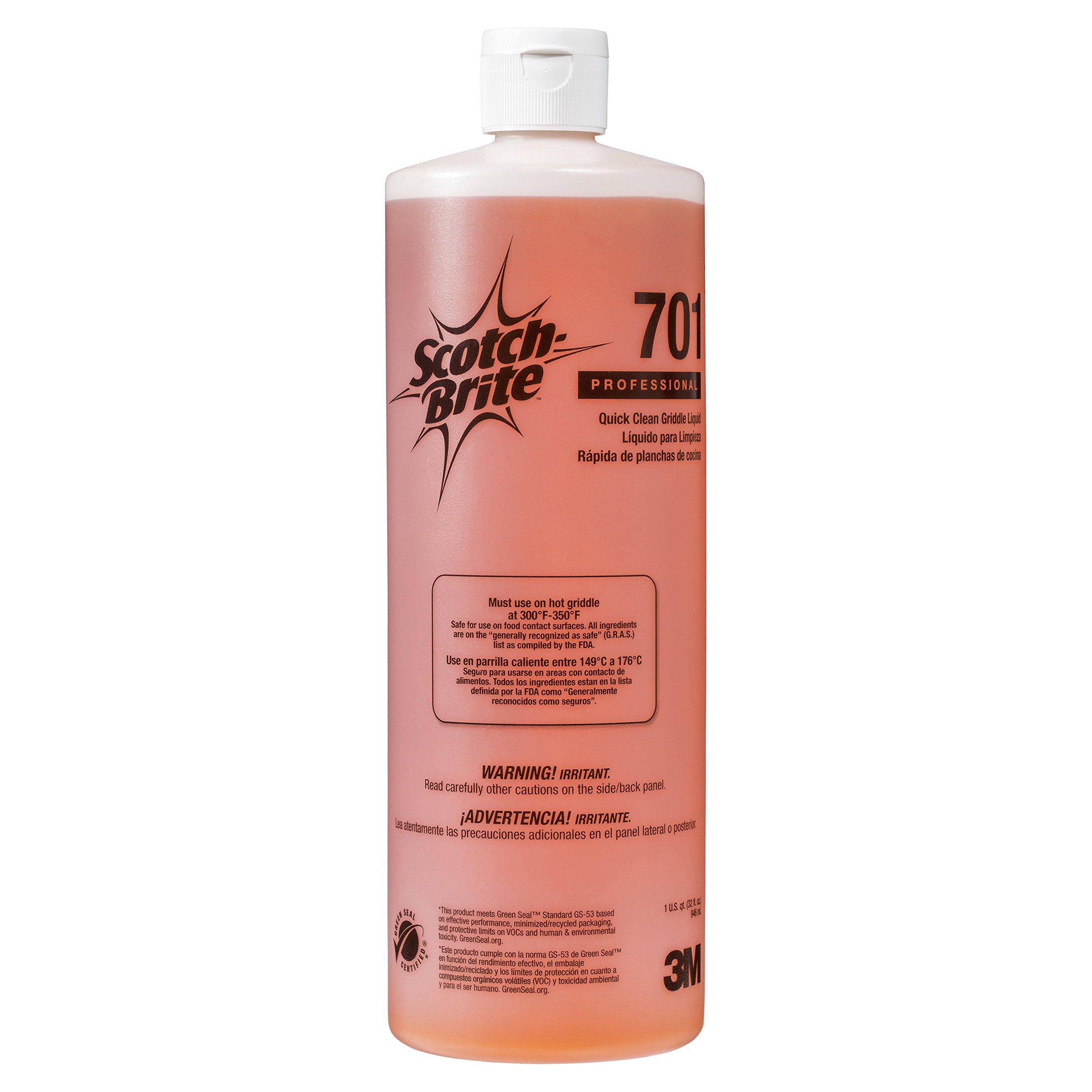 Scotch-Brite 701 Quick-Clean Griddle Liquid, 1-Quart Bottle (Case of 4)