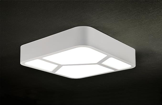 Plafoniera Luce Calda : Plafoniera quadro led w luce calda amazon illuminazione