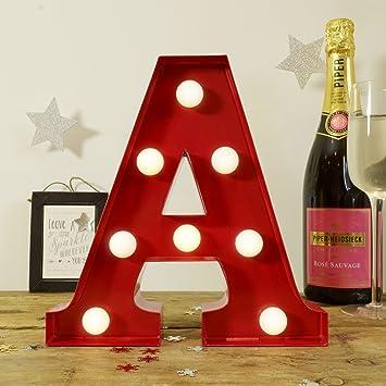 metal letter lights red a retro vintage contemporaryfairground symbol metal light up led marquee alphabet