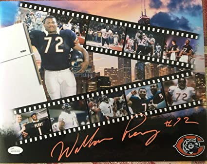 6b301479a84 Image Unavailable. Image not available for. Color: Chicago Bears William  fridge Perry Autographed Signed Highlight Reel 11x14 Memorabilia JSA