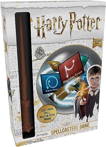 Harry Potter Spellcasters Un Juego De Charade Con Un Giro Mágico Echa Tu Hechizo Y Domina Tu Magia Incluye Varita De Hechizos Réplica De La Varita De Harry Potter 32 Hechizos