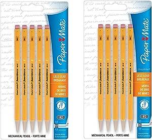 Paper Mate sharpwriter portaminas, 0,7 mm, 2 HB, Amarillo, pack de 10: Amazon.es: Oficina y papelería