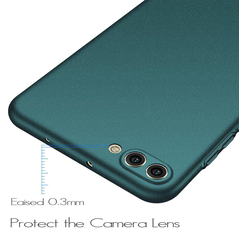 Ligera Rojo Liso anccer Funda Huawei Honor View 10 Serie Colorida Ultra-Delgado Anti-rasgu/ños Estuche para Carcasa Huawei Honor View 10 // Honor V10 Funda Huawei Honor V10