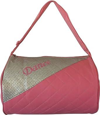 Girls Dance Duffle Bag Pink with Adjustable Shoulder Strap