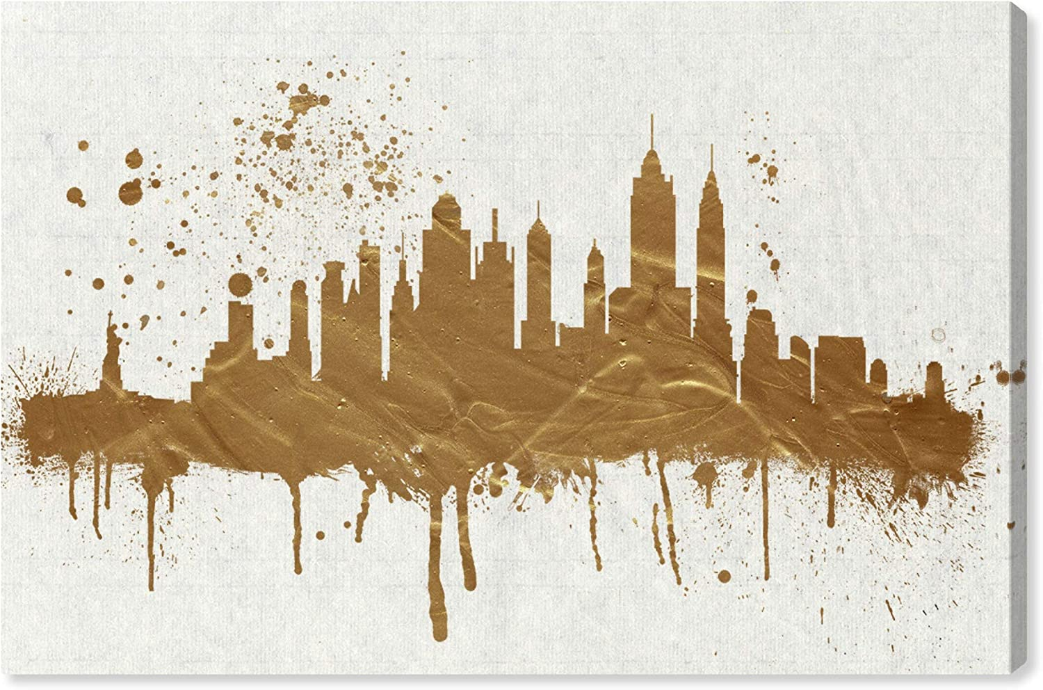 The Oliver Gal Artist Co. Cities Wall Art Canvas Prints 'Gold NY Skyline' Home Décor, 60