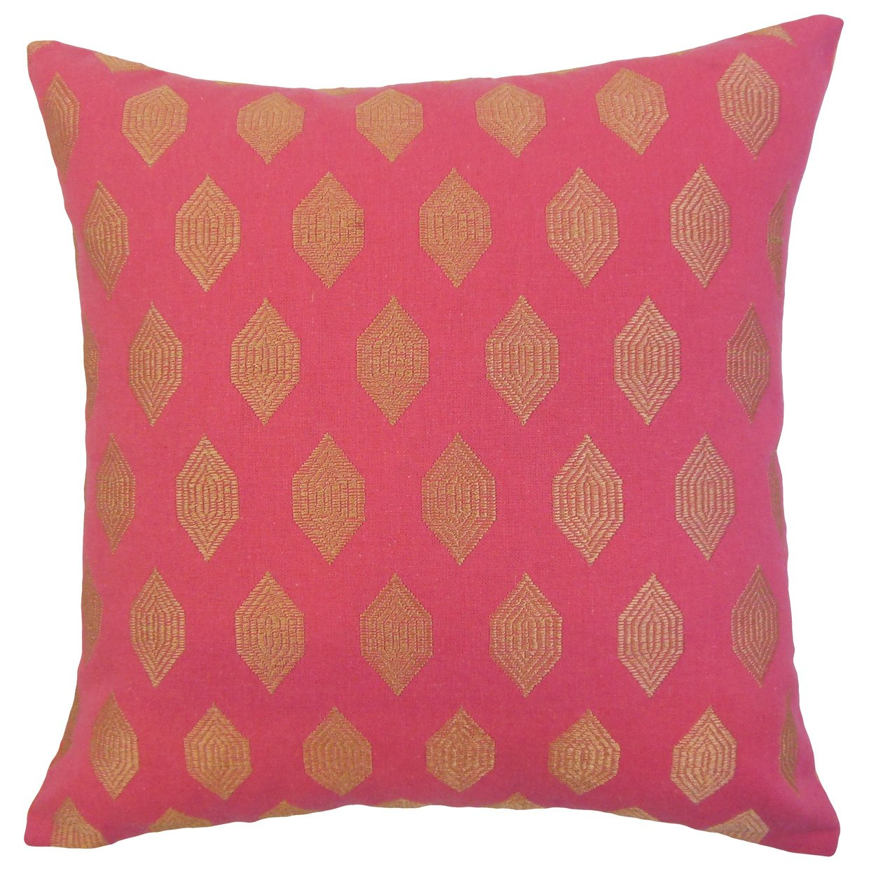 The Pillow Collection Gal Geometric Bedding Sham Magenta King/20' x 36'