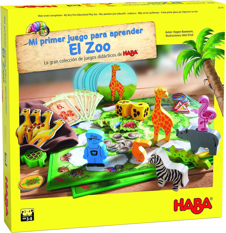 Haba Mesa Mi Primer Juego para aprender: El Zoo-ESP, multicolor (H305176) , color/modelo surtido: Amazon.es: Juguetes y juegos
