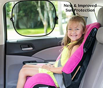 98738e67694 Best 2 Pack Auto Sunshades. SALE! Improved Shade Protection for Babies