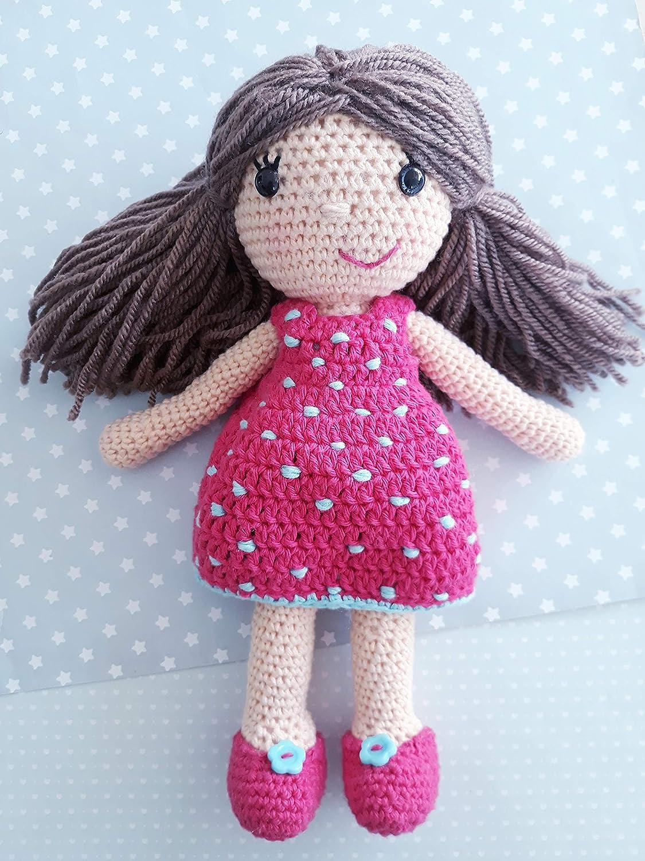 Muñeca CECI crochet PERSONALIZADA Mariquilla.: Amazon.es ...