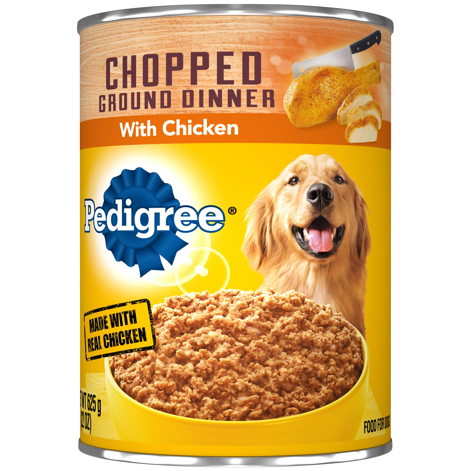Pedigree Chopped Ground Dinner With Chicken Adult Canned Wet Dog Food, (12) 22 Oz. Cans by Pedigree
