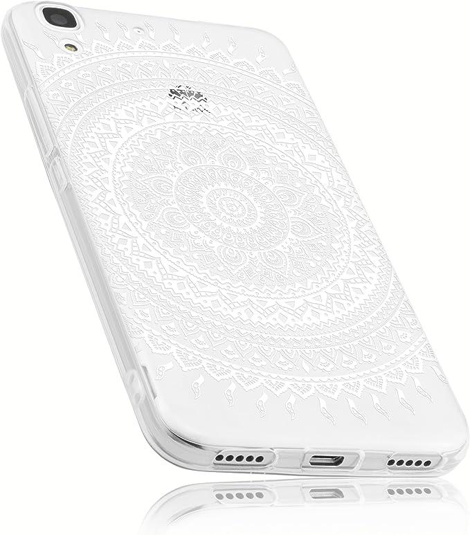 Mumbi Hülle Kompatibel Mit Huawei Y6 2015 Handy Case Handyhülle Mit Motiv Mandala Weiss Elektronik