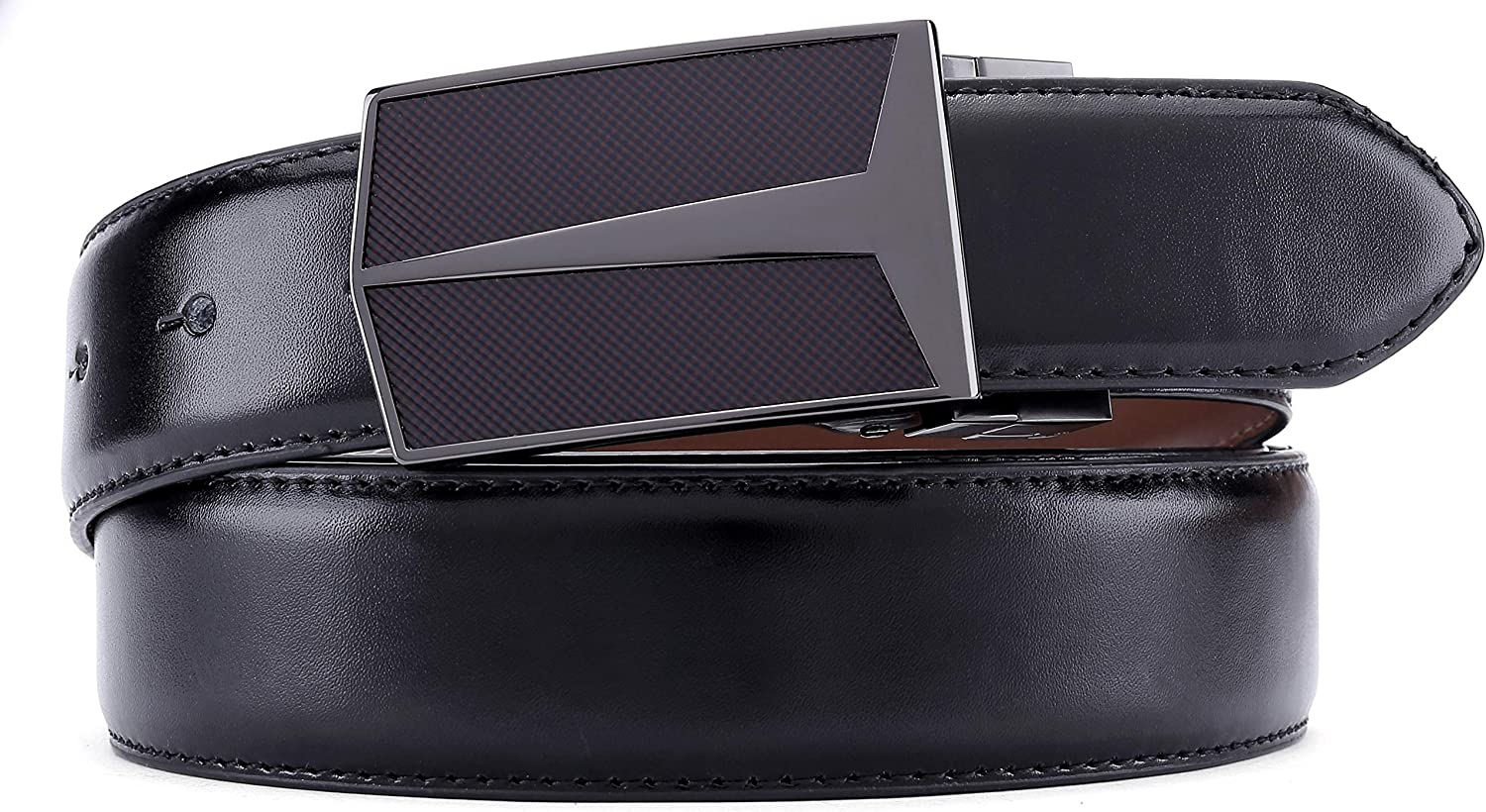 Mens Belt,Bulliant Leather Reversible Belt for Men One Belt Reverse for Two Colors Trim to Fit