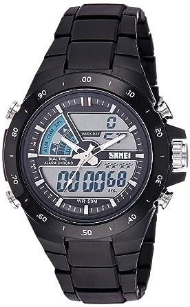 Skmei hombre Dual zonas horarias multifuncional Digital Deportivo reloj de pulsera: SKMEI: Amazon.es: Relojes