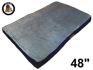 Ellie-Bo Perro Cama Piel sintética de Pana Lados Topping, (2 x -Large, Azul/Gris: Amazon.es: Productos para mascotas