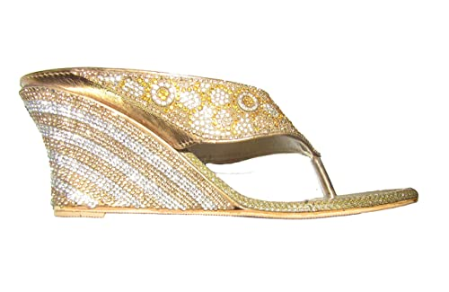 c499f5c4eb8 Roshan Bridal Healed Wedding Sandal Indian Designer Heavy Stone Worked  Sandals … (07)