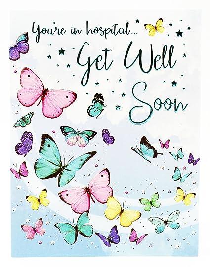 Get Well pronto tarjeta de felicitación hospital rápida ...
