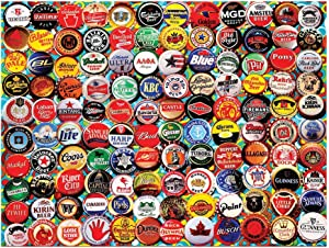 White Mountain Puzzles Beer Bottle Caps - 550Piece Jigsaw Puzzle