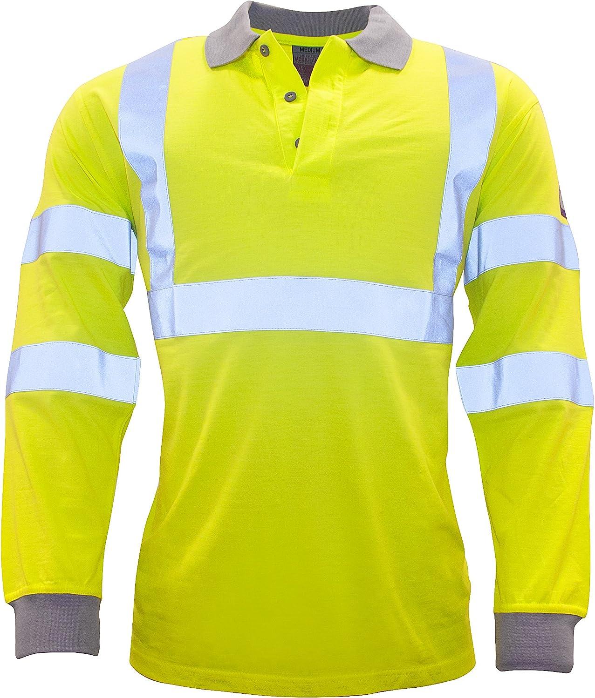 Regular Yellow Portwest FR77YERXXXL Flame Resistant Anti-Static Hi-Vis Long Sleeve Polo Shirt Size: 3X-Large