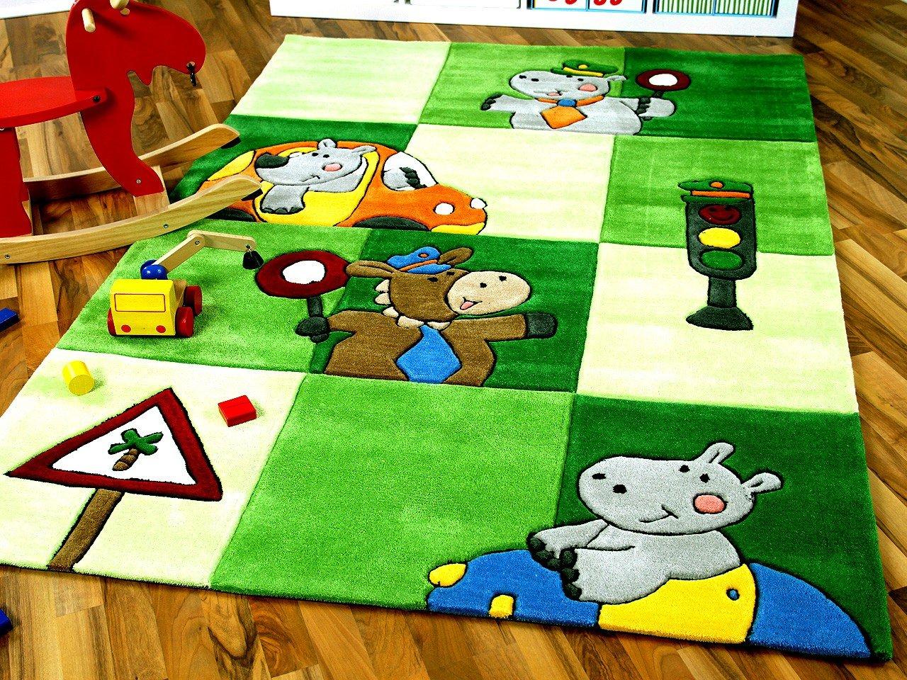 Lifestyle Kinderteppich Ampel Grün in 3 Größen     Sofort Lieferbar