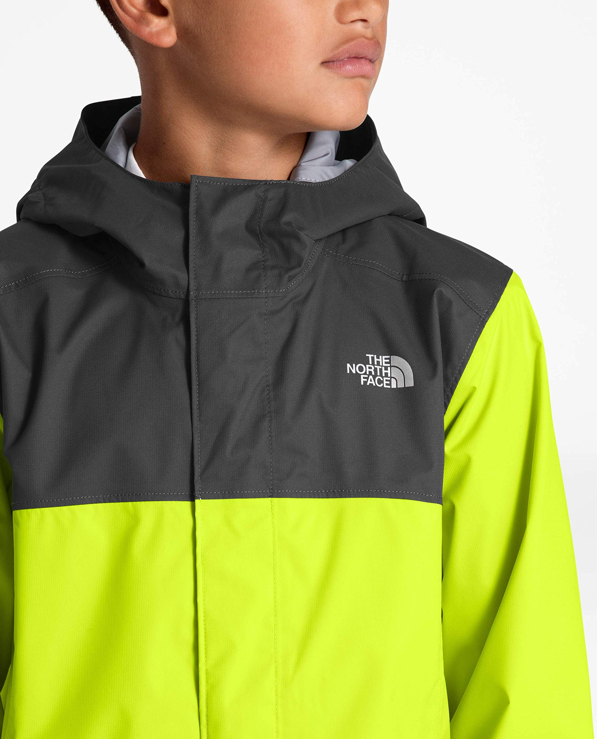The North Face Kids Boy's Resolve Reflective Jacket (Little Kids/Big Kids) Lime Green Small by The North Face (Image #4)