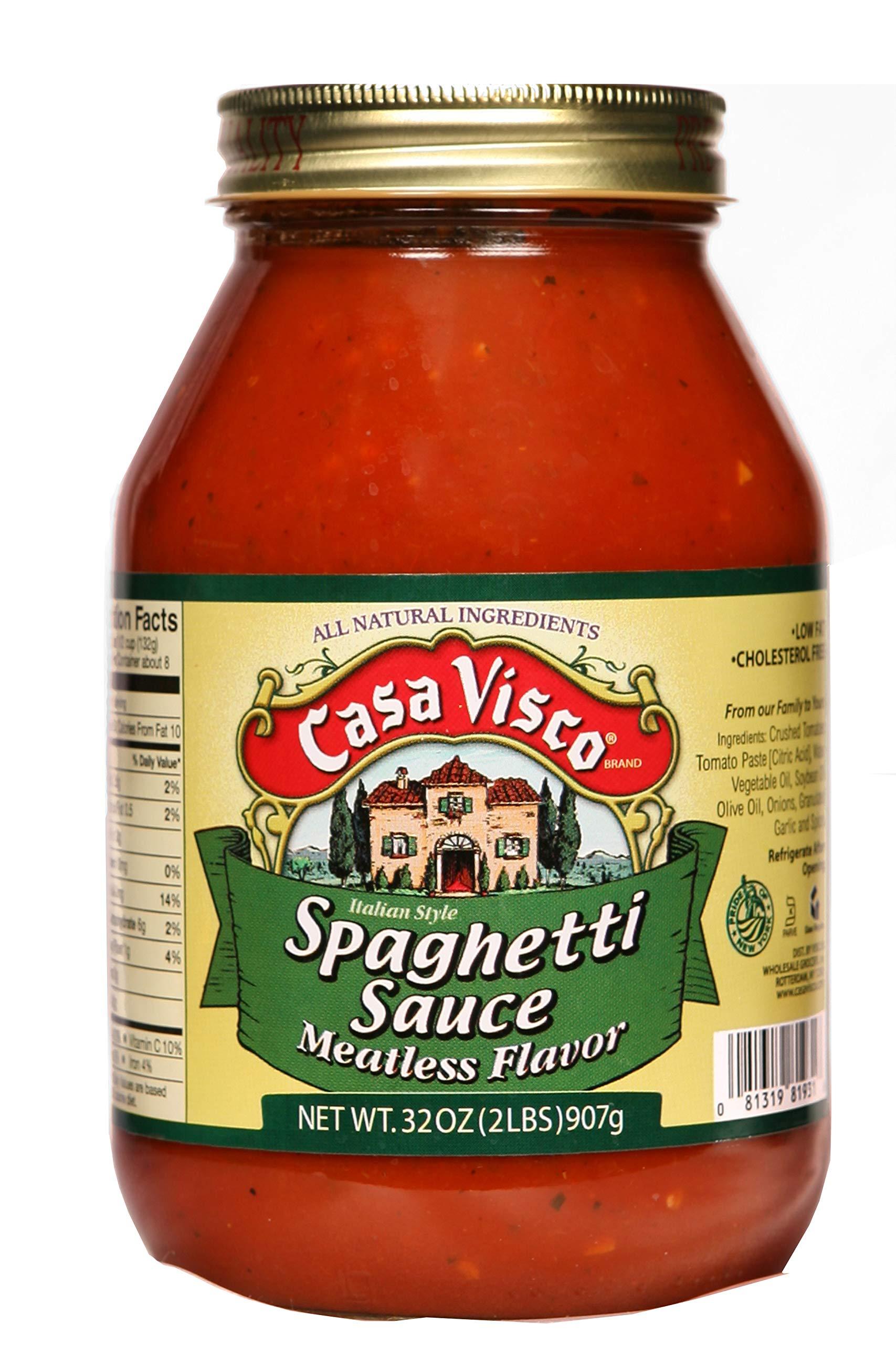 Casa Visco Sauce Pasta Meatless, 32 oz