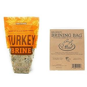 World Market Turkey Brine Kit - Includes Turkey Brine Mix And Brining Bag for up to 25 Pound Turkey