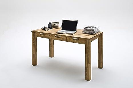 Scrivania Ufficio Legno Massello : Scrivania ufficio tavolo enzo 135 x 70 cm in legno massiccio di