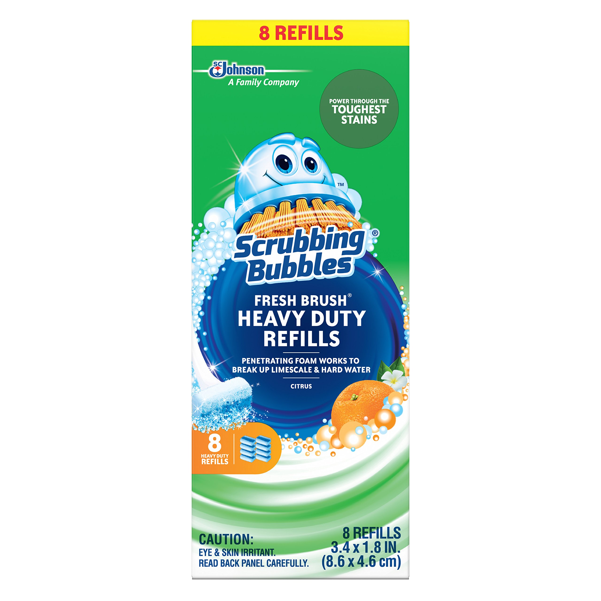 Scrubbing Bubbles Fresh Brush Refill, 64 Total Refills (8 Packs of 8 Count)