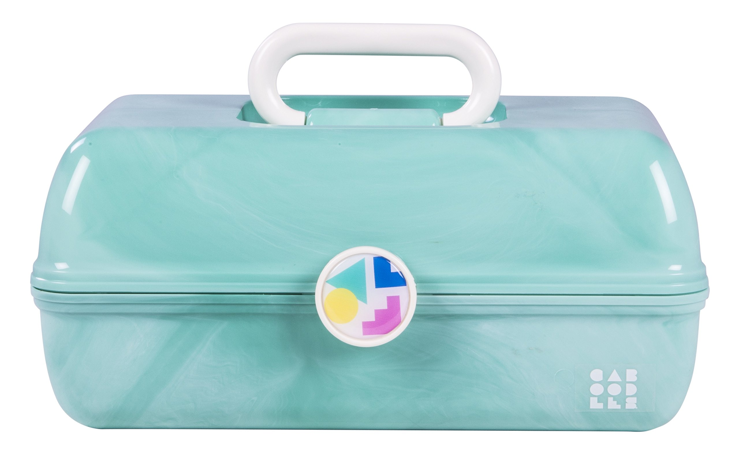 Caboodles On The Go Girl Sea Foam Marble Vintage Case, 1 Pound