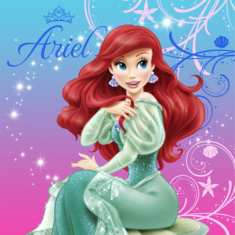 Disney The Little Mermaid Sparkle Lunch Napkins ディズニーリトルマーメイドスパークルランチナプキンハロウィンクリスマス B00CT81TWY