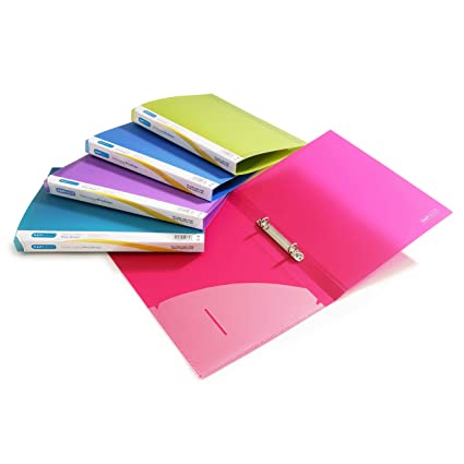 Rapesco Documentos - Carpetas de 2 anillas A4 en colores variados, 15mm de lomo, 10 unidades