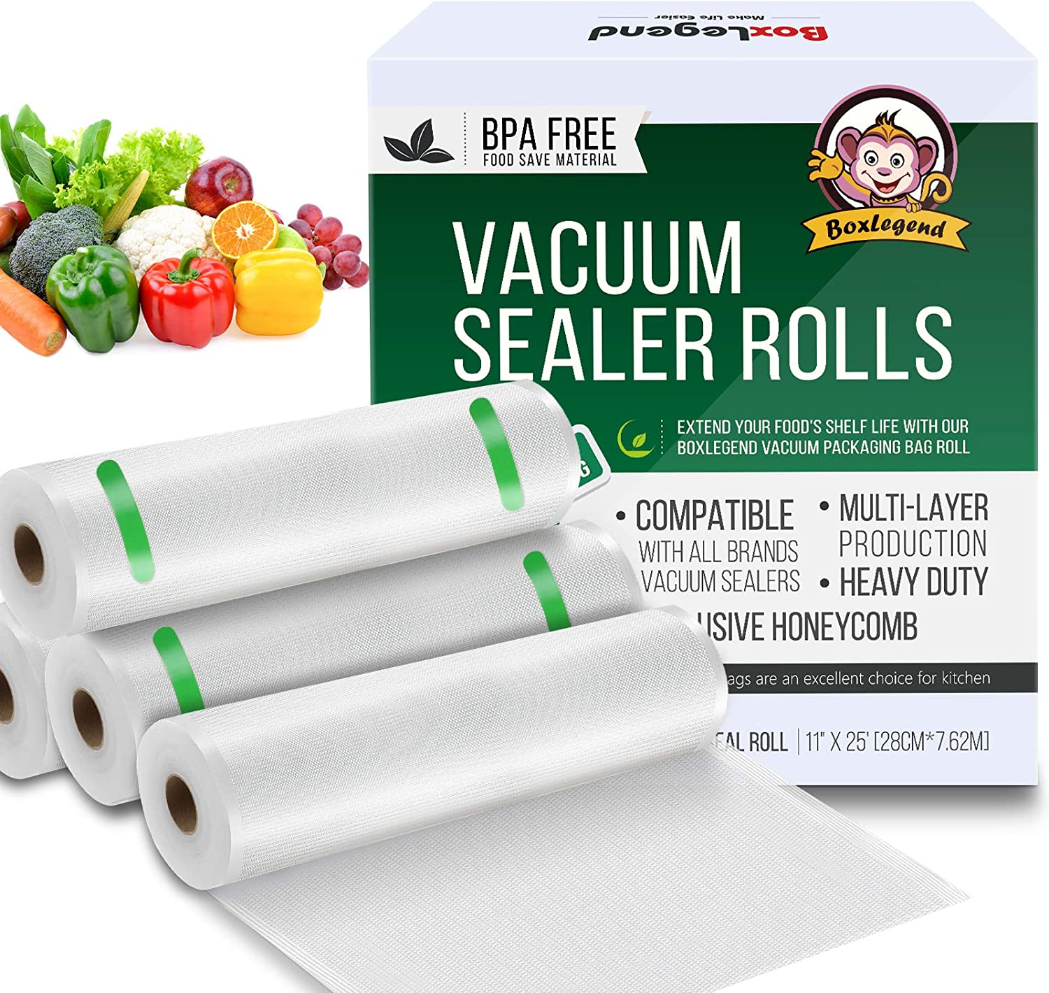 Vacuum Sealer Bags for Food Saver, 4 Pack 11