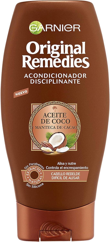 Garnier Original Remedies Aceite de coco y Manteca de Cacao Acondicionador de pelo rebelde y difícil de alisar - 250 ml