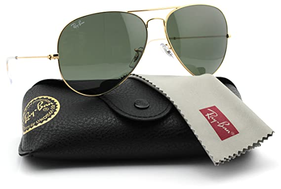 b8e6bf84fa Image Unavailable. Image not available for. Color  Ray-Ban RB3025 001  Unisex Aviator Sunglasses Gold Frame   Green Grey Lens 62mm