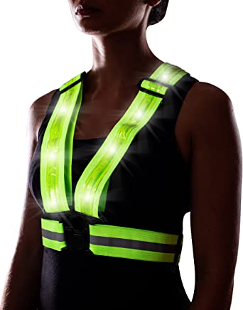 High Visibility Warning Lights Safety Gear 20 LED Reflective Running Vest