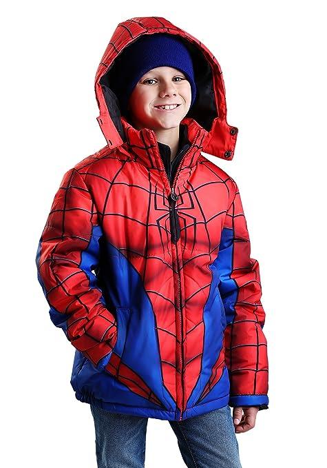 Marvel Comics Ultimate Spider-Man Boy/'s Toddler Winter Jacket W//Hood 2T-5T NEW