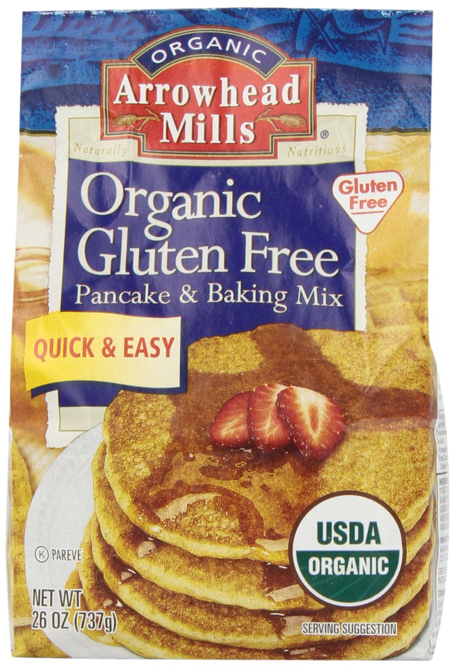 Arrowhead Mills Organic Gluten-Free Pancake & Baking Mix, 26 oz. by Arrowhead Mills