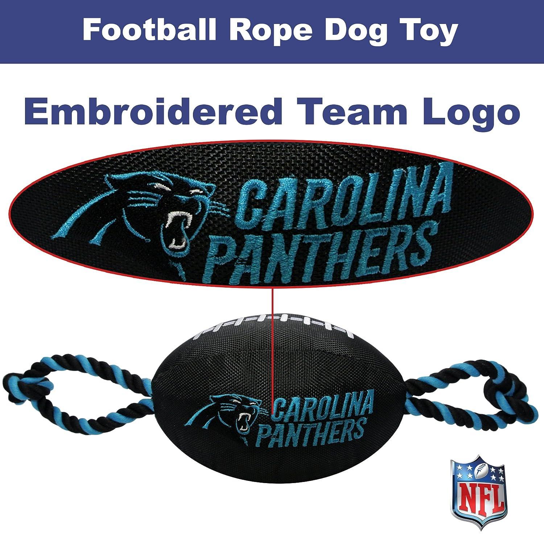 96cd8b96f NFL Minnesota Vikings Nylon Football Dog Toy with Inner Squeaker    Pull  Ropes PET Sports