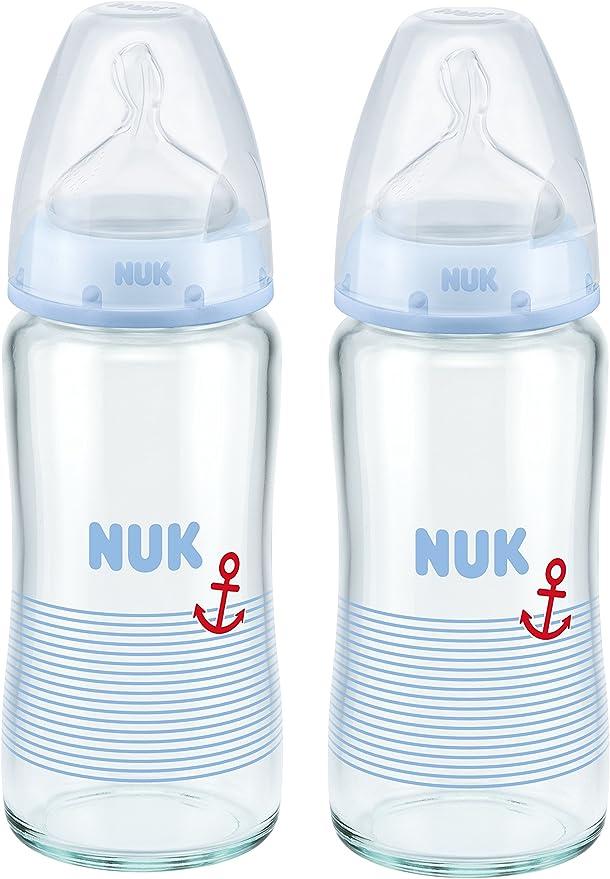 sans BPA anti-colique c/œur 4/biberons avec contr/ôle de la temp/érature et un casier /à biberons blanc   5/unit/és 0-6/mois NUK First Choice+ Starter Set Lot de biberons