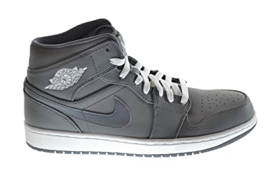 Air Jordan 1 Mid Men's Basketball Shoes Cool Grey/White-Grey 554724-014