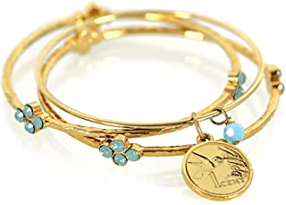 product image for Hummingbird Coin Bangle Coin Bracelet Set