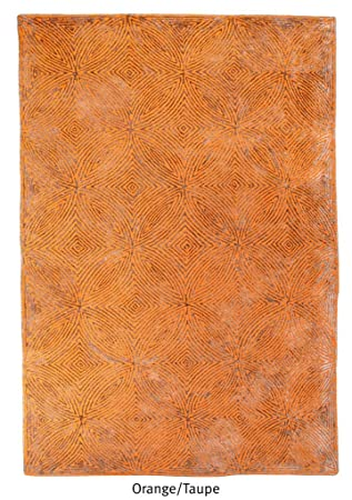 Rugs2clear Hand Made Orange Taupe Wolle Viskose Teppich Leora 9