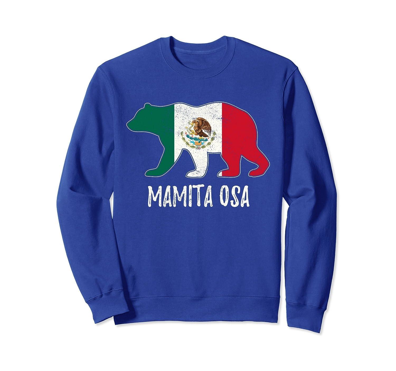 Mexico Flag Bear Mexican Mama Sweatshirt-alottee gift