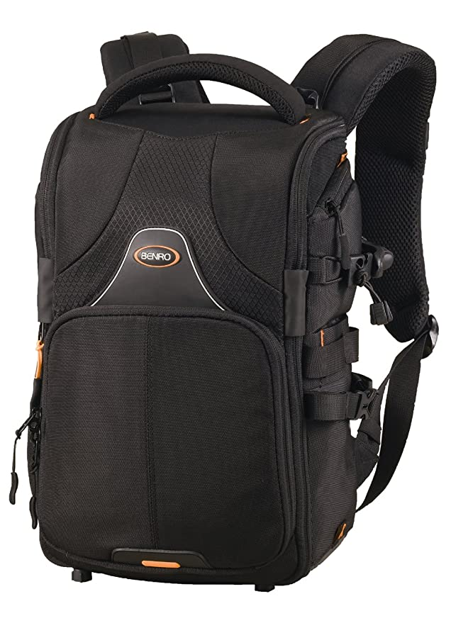 Amazon.com: Benro Beyond B100 Camera Rucksack with Laptop Compartment and Weather Protection Black: Sports & Outdoors