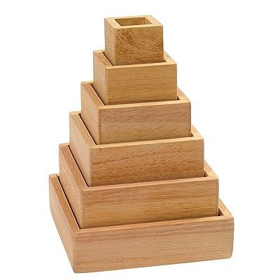 Guidecraft - Pirámide de arcoíris apilable: Hogar